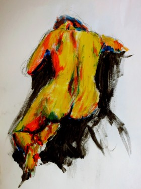 Acrylic colour life drawing XCP