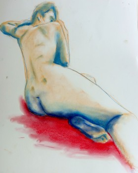 Colour pastel life drawing XCP