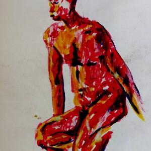 Acrylic colour life drawing XCP