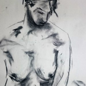 charcoal woman