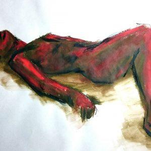 Water pastel life drawing
