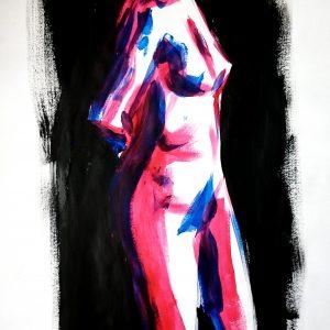 Acrylic life drawing
